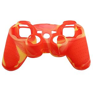 FUNDA SILICON CONTROL PS3 ROJO CON AMARILLO