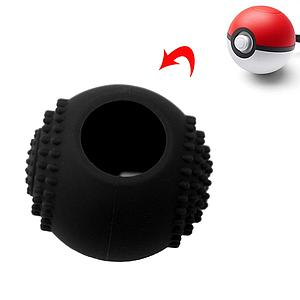 FUNDA SILICON NINTENDO SWITCH POKEBALL NEGRA