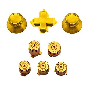BOTONES KIT XBOX ONE 8 PCS ALUMINIO DORADO