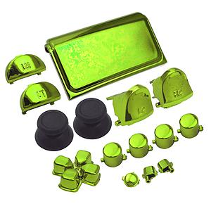 BOTONES KIT PS4 SLIM 15 PCS VERDE METALICO