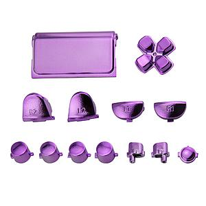 BOTONES KIT PS4 SLIM 15 PCS MORADO METALICO